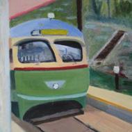 Trolley at Glen Echo Park
