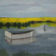 Boat In Bright Marsh