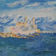 Monet Study-Cap d'Antibes
